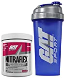 GAT Clinically Tested Nitraflex, Testosterone Enhancing Pre Workout 300 g (30 servings) with BONUS GAT Shaker Bottle (Fruit Punch)