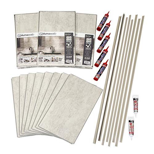 DumaWall Shower and Tub Surround Kit (Wind Gust) (Best Adhesive For Tub Surround)