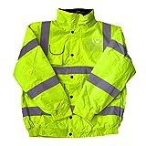 High Visibility Childrens Hi Vis Viz Bomber Jacket Safety Coat Yellow L
