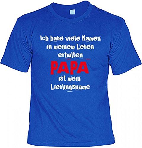 T-Shirt Vater - Papa ist mein Lieblingsname - Geschenk Idee mit Humor zum Vatertag oder Geburtstag - royalblau