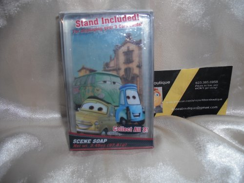 Price comparison product image Disney Cars Luigi Fillmore Guido Movie Scene Soap with Stand