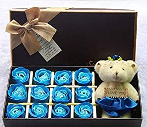 Artificial Roses Flowers for Multiple Occasions - Blue