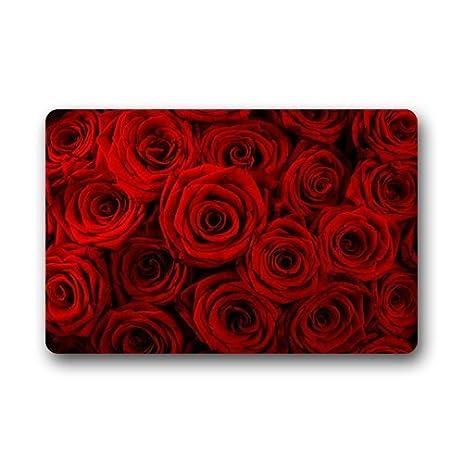 front door mats outdoorAmazoncom  Fantastic Doormat Red Rose Flower Floral Pattern Door