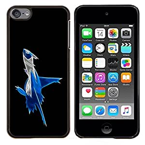 LECELL--Funda protectora / Cubierta / Piel For Apple iPod Touch 6 6th Touch6 -- Abstract Blue Splash --