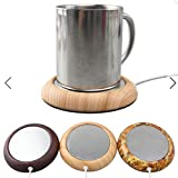 Cup Warmer Wood Grain USB Silicone Electric Mug Drink Coaster Tea Coffee Insulation Coaster Heater by ShopIdea