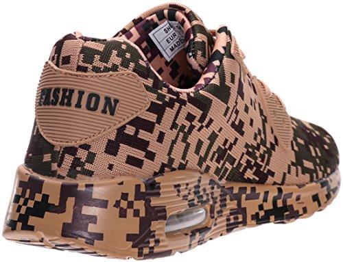 Herren Sneaker mit BRONAX 40 46 Air Dämpfung 6 Farben Braun qd7vS