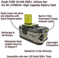 Ryobi Supercharger Bundle, P135 batería de ion de litio de ...