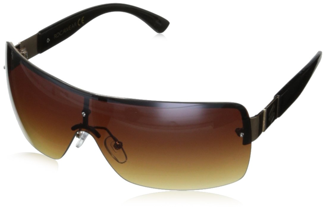 Rocawear R1384 Shield Sunglasses,Gold Black,152 mm by Rocawear