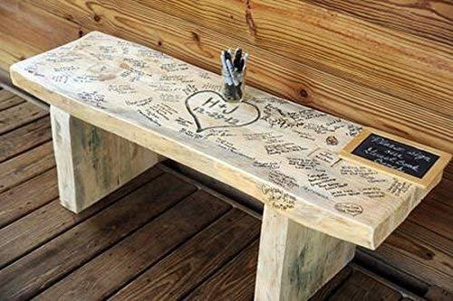Amazon Com Wedding Bench Guest Book 4 Foot Handmade