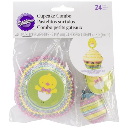 Wilton Cupcake Baking Combo Pack, Easter Hop and Tweet, - Cupcake Easter