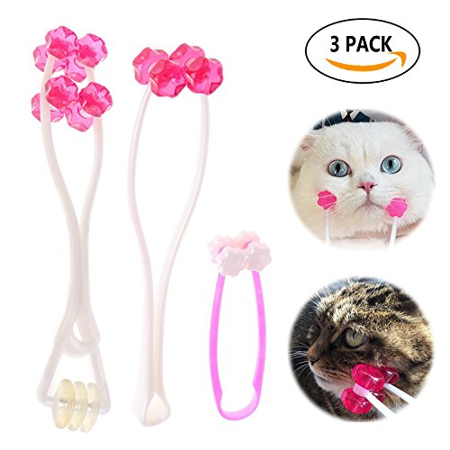 Pet Face Massager Cat Massage Roller Feet Legs Relief Tool for Cats Dogs Rabbits (3 Pack)