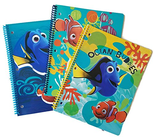 Back to School Supplies Bundle of 3 Includes Finding Dory Notebook, Set of 8 Markers and Pencil Pouch. Notebook Cover May Vary