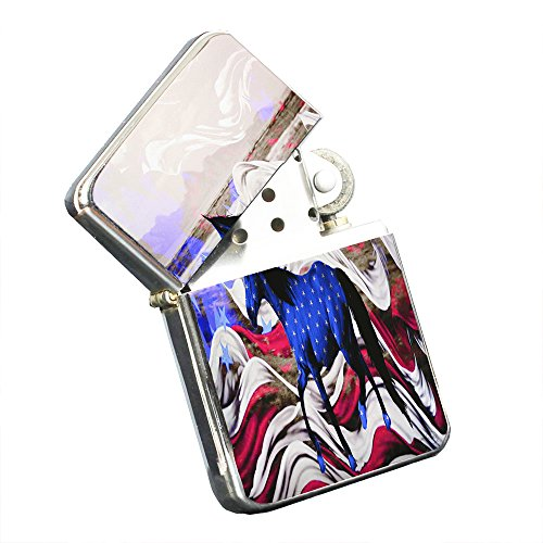 Mustang Horse American Freedom - Silver Chrome Pocket Lighter by Elements of Space by Elements of Space