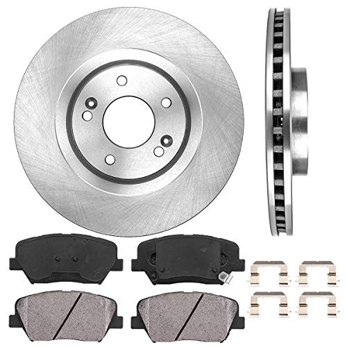 Callahan FRONT 320 mm Premium OE 5 Lug [2] Brake Rotors + [4] Ceramic Brake Pads + Hardware + - Brake Pad Cylinder