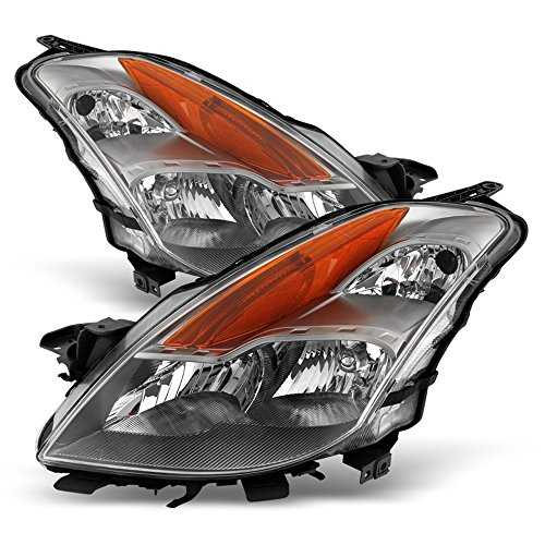 ACANII - Fits 2008 2009 Altima Coupe Replacement Halogen Headlights Headlamps Driver + Passenger Side