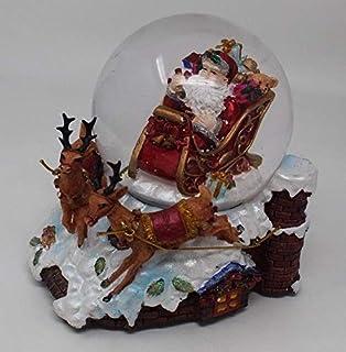 Das Gute Leben Gro/ß Musikalische Weihnachten Weihnachtsmann Schneekugel Schnee-Sturm bei Geschenkbox