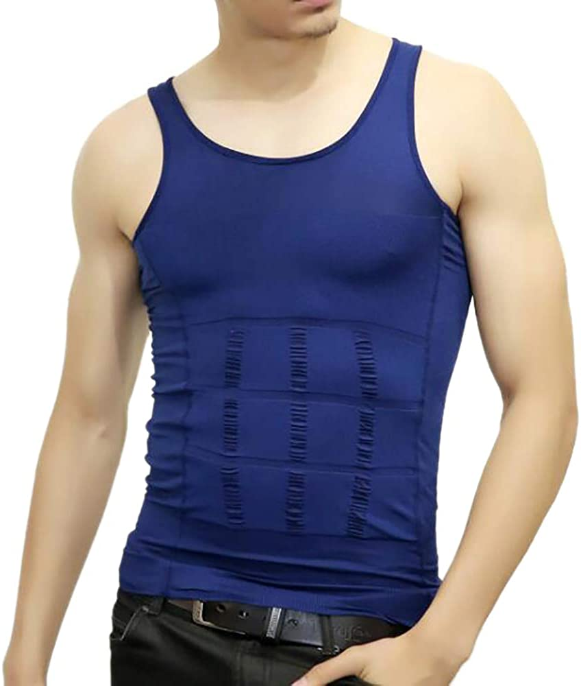 Men Slimming Body Shaper Compression Shirt Shapewear Sculpting Vest Muscle Tank Bulk Sale