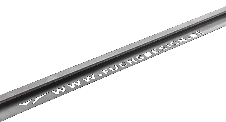 =12,5m Fliesenschiene Quadratprofil H/öhe: 12,5 mm Edelstahl V2A Geb/ürstet FUCHS 5x2,5 m