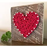 Sweet & small red string art heart sign. Unique gifts for Valentine's Day, anniversaries, housewarming, teachers, congratulations & just because. By Nail it Art.