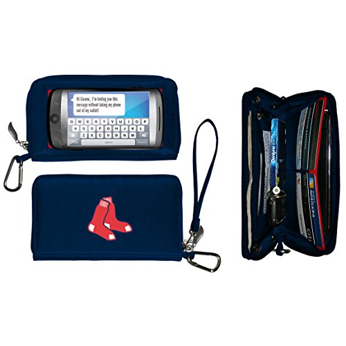 Charm14 Women's MLB Deluxe Touch Wallet, Blue, 7.5