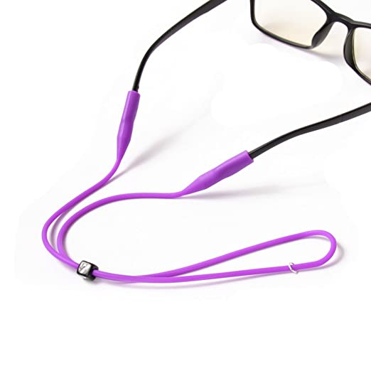 848ec4eed10 Image Unavailable. Image not available for. Color  2PCS Silicone Eyeglass  Cord Chains Reading Sunglass Neck Strap Rope Eyewear Retainer Holder