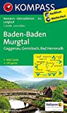 Baden-Baden - Murgtal - Gaggenau - Gernsbach - Bad Herrenalb: Wanderkarte mit Aktiv Guide, Radwegen und Loipen. GPS-genau.1:25000 (KOMPASS-Wanderkarten, Band 872)