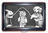 pics of condom - Cat Kitten Puppy Dog Jumprope Antique B&W Pic ID Wallet or Cigarette Case USA Made