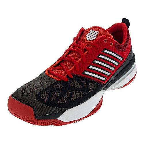 Kswiss Mens Knitshot Fieryred Black Shoes Size 8