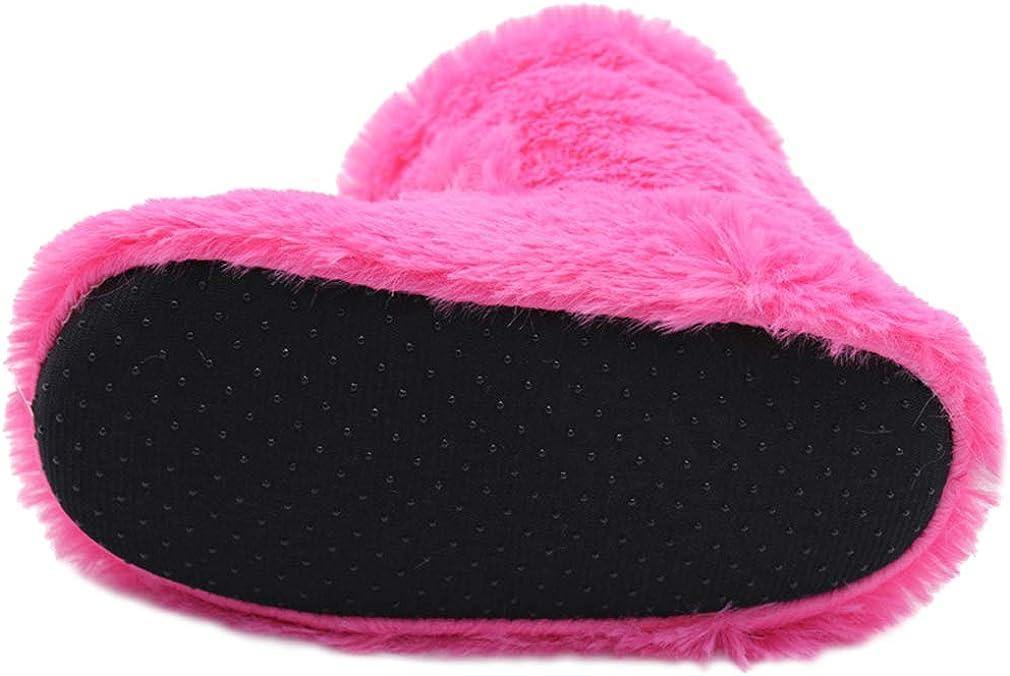 Boys Girls Warm Unicorn House Slippers Toddler Kids Indoor Bedroom Bootie Shoes