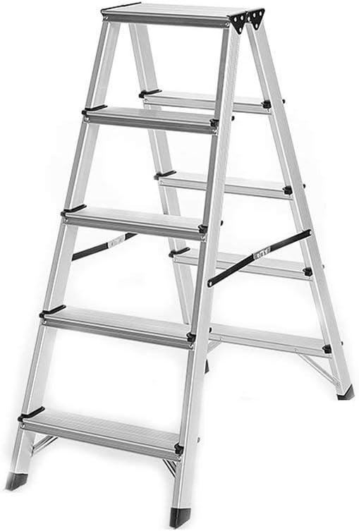 QQXX Escalera de Aluminio Multifuncional de Interior Plegable de Doble Cara Gruesa portátil para el hogar (Tamaño: # 4) # 4: Amazon.es: Hogar