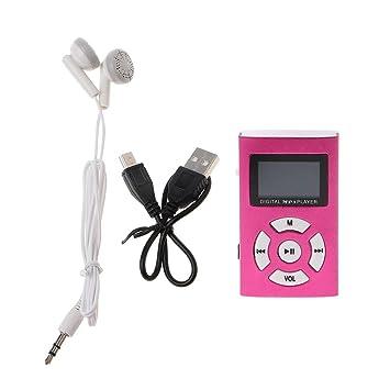Jiay Reproductor Mp3 Mini USB MX-808 Pantalla LCD de 32 GB ...