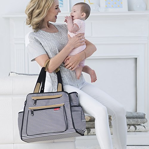 Skip Hop Grand Central Black/White - Bolso cambiador