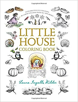 Little house coloring book little house for Laura ingalls wilder coloring pages