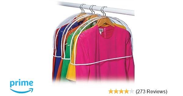 Amazon.com  Clear Vinyl Shoulder Covers Closet Suit Protects Storage Home  Decor Size  12