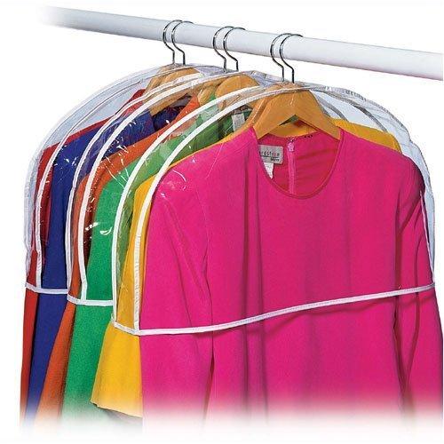 12H x 22W x 2D, Richards AX-AY-ABHI-10072 Clear Vinyl Shoulder Covers Closet Suit Protects Storage Home Decor Size 12 Shoulder Covers