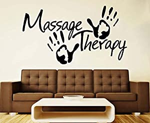 Massage Wall Vinyl Decal Massage Vinyl Sticker Sign Spa