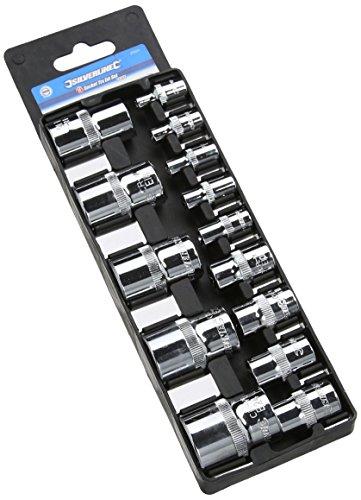 Silverline 675072 Torx-E-Steckschlüsseleinsätze, 14-tlg. Satz E4-E24