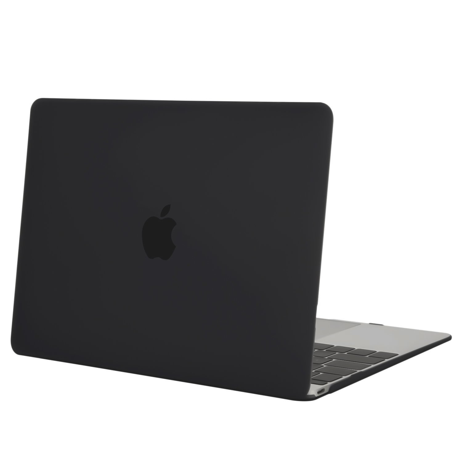 MOSISO Plastic Hard Shell Case Cover Compatible MacBook 12 Inch with Retina Display Model A1534 (Version 2017/2016/2015), Black