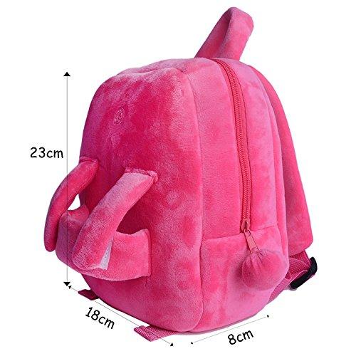 Gloveleya Bunny Rabbit Plush Kid's Backpack Shoulder Bags Easter Gifts 8'' for Kids Under 5 Years Old by Gloveleya (Image #2)