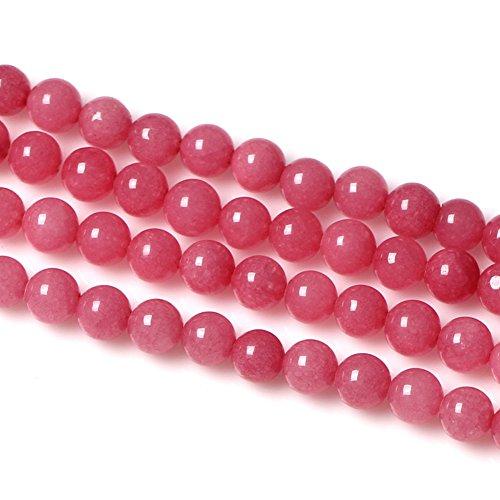 - Paialco 8mm Round Pink Amazonite Gemstone Beads for Jewelry Making/Design,1 Strand