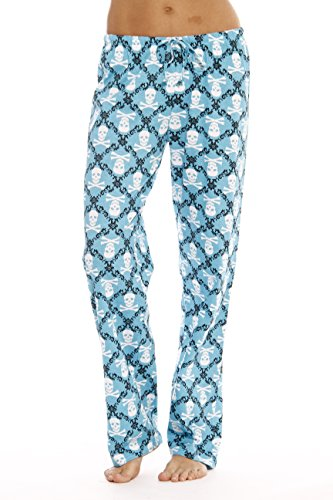 (6324-10051-L Just Love Women Pajama Pants / Sleepwear, Skulls Blue, Large)