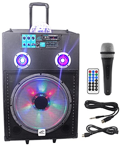 NYC Acoustics 600w Rechargeable Powered Bluetooth Party ()