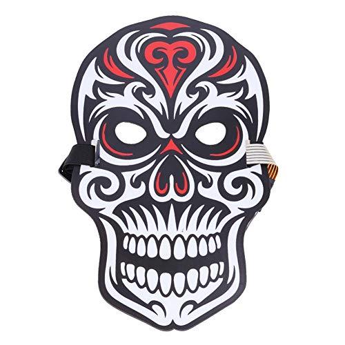 ハロウィンマスク 仮装マスク 怖いマスク 骸骨マスク ダンスマスク 発光 音声制御 仮装 仮面 光る 変装 お化け屋敷 コスプレ衣装 コスチューム小道具 仮装 パーティー ジョークグッズ コレクション アイテム Prosperveil