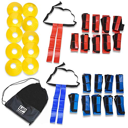 Unlimited Potential Flag Football Deluxe Set: Belts, Flags, Cones, Carry Bag