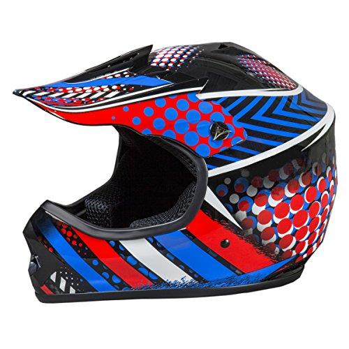 Fuel Helmets SH-ORJ015 Youth Off-Road Helmet, Multicolor, Medium