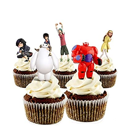 Amazoncom 12 EDIBLE Stand Up Big Hero 6 Cupcake Toppers big hero