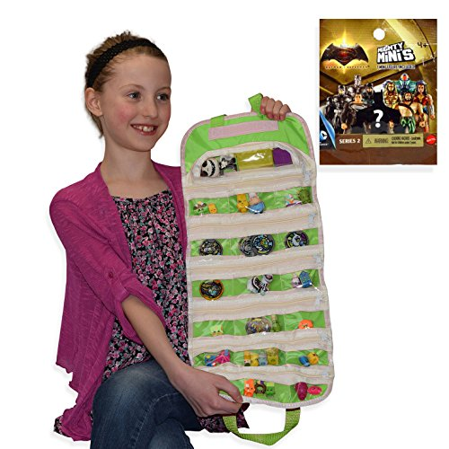 Mighty Minis D.C. Series 2 Compatible Toy Organizer Bundle (Green)