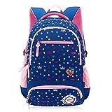 Kids Padded Backpack Reflective Bookbag for Elementary School Children Girls (Royalblue)