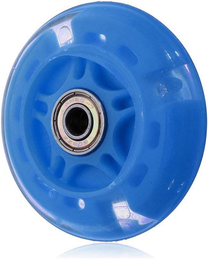 SZMH 120Mm Led Flash Wheel Mini Or Maxi Micro Scooter Flashing Lights Back Rear Abec-7 Blue