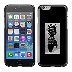 ka ka case unique design personality Black Poster Guy Grey Man - iPhone 6 Plus 5.5